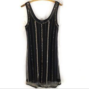 Angie NWT Little Black Beaded Dress